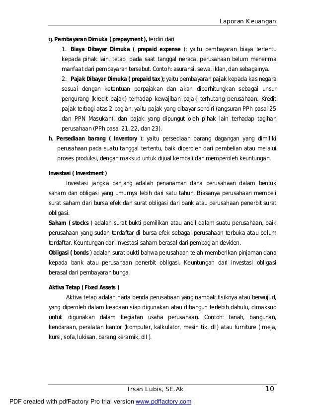 Contoh Laporan Keuangan Pdf Druckerzubehr 77 Blog