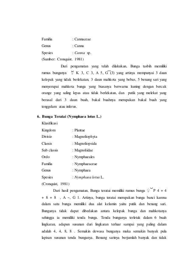 Laporan praktikum 7 rumus bunga dan diagram bunga morfologi tumbuhan zingiberales 13 ccuart Image collections