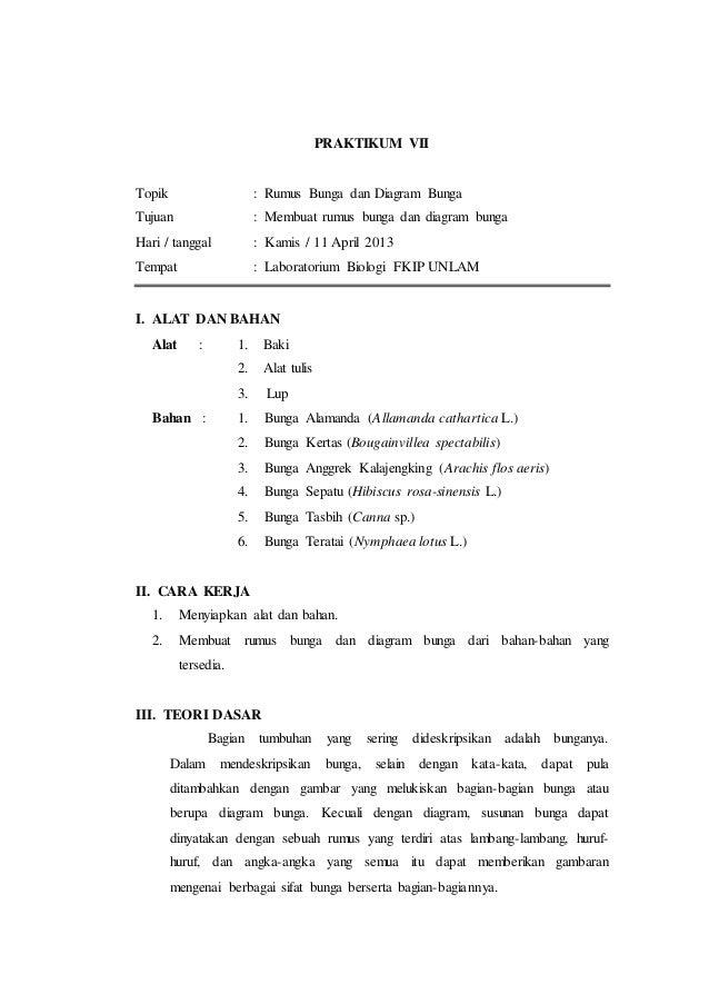 Laporan praktikum 7 rumus bunga dan diagram bunga morfologi tumbuhan 2 praktikum vii topik rumus bunga dan diagram ccuart Gallery