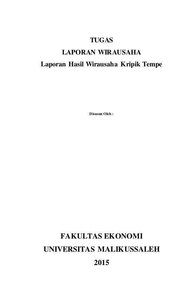 Laporan Wirausaha Keripik Tempe