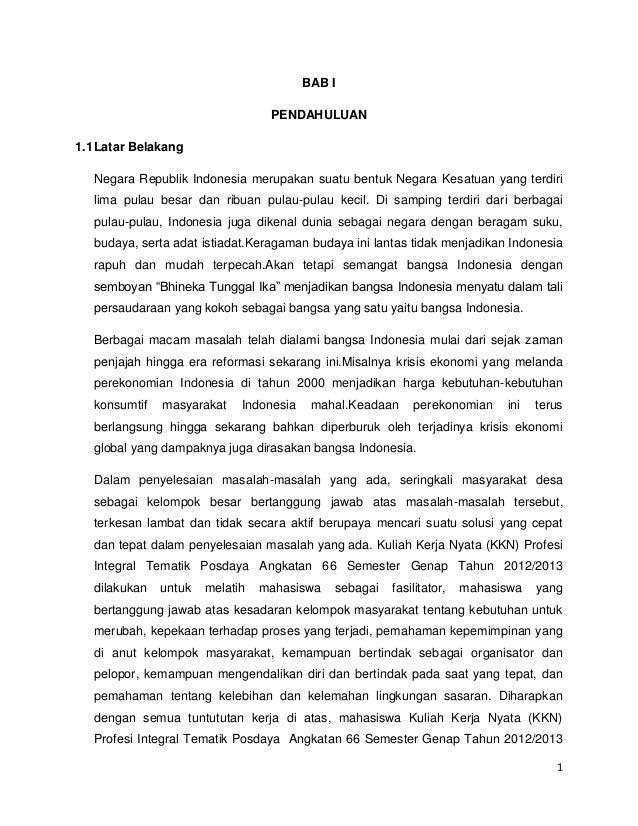 1 BAB I PENDAHULUAN 1.1Latar Belakang Negara Republik Indonesia merupakan suatu bentuk Negara Kesatuan yang terdiri lima p...