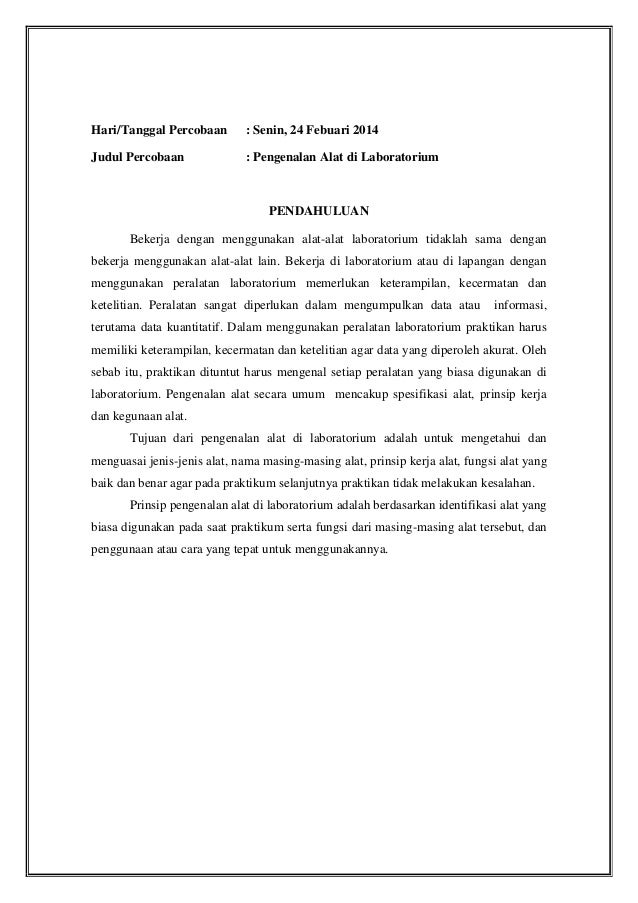 Laporan Praktikum Kimia Dasar Pengenalan Alat Alat Laboratorium Epub