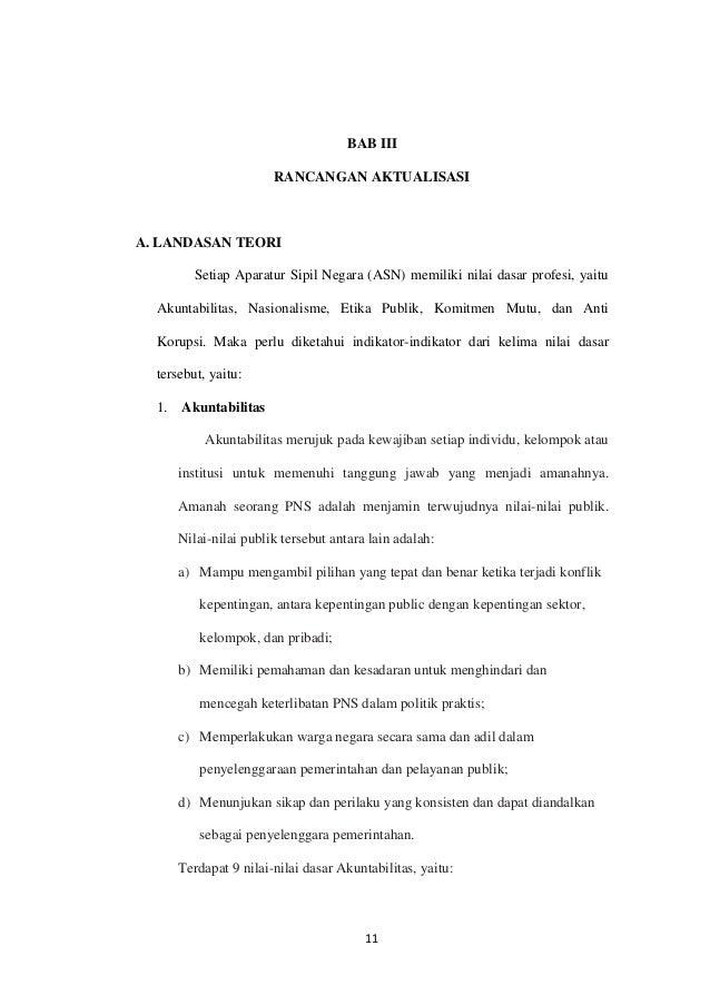 Laporan Aktualisasi Nilai Nilai Dasar Profesi Pns Aneka