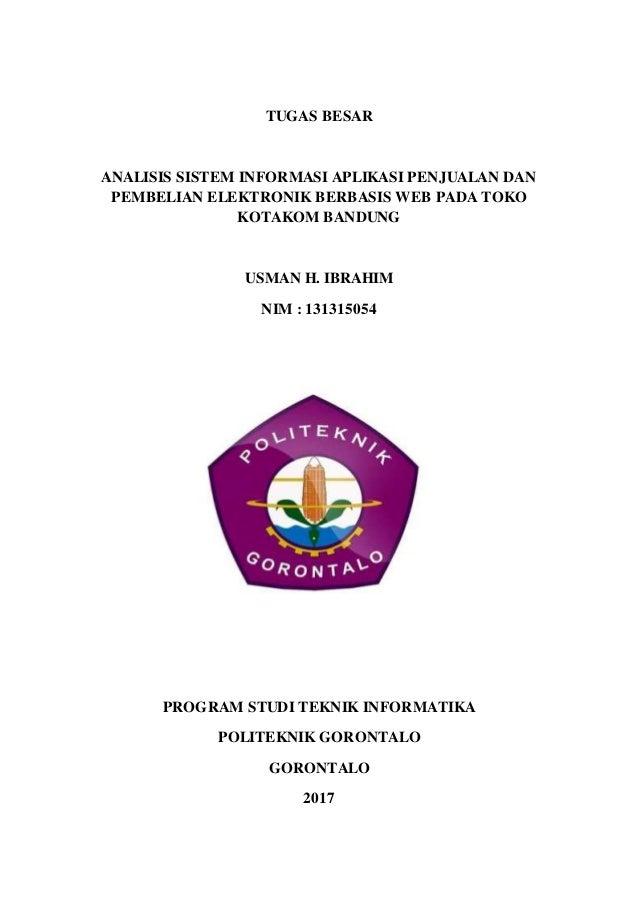 Laporan Analisis Sistem Informasi