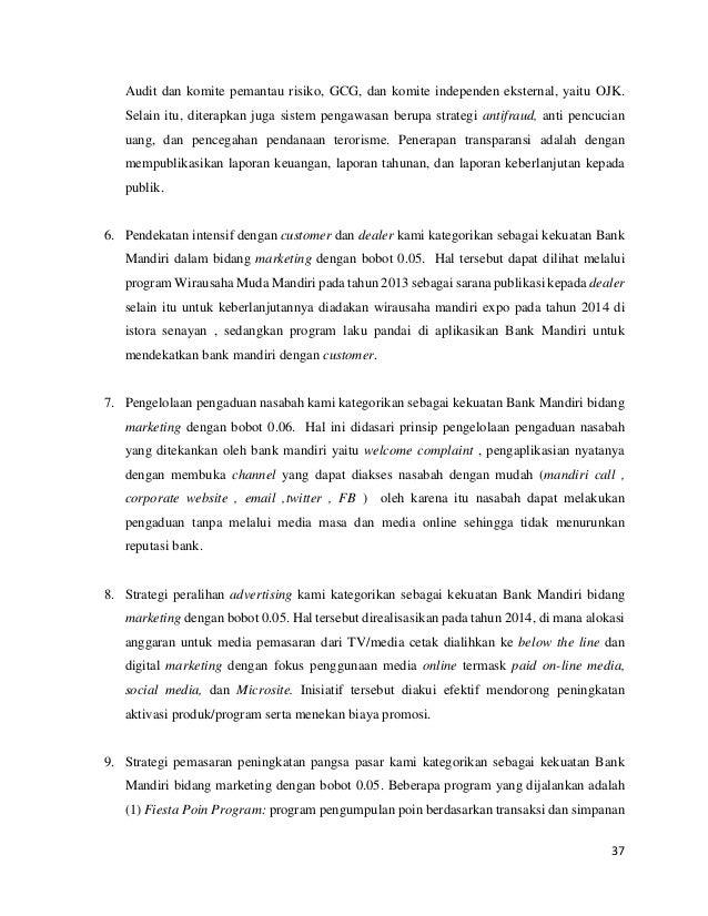 Laporan Strategi Perusahaan Bank Mandiri