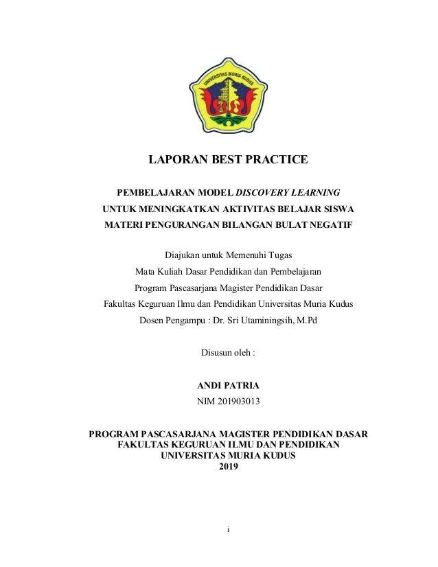 Download Laporan Best Practice Matematika Smp