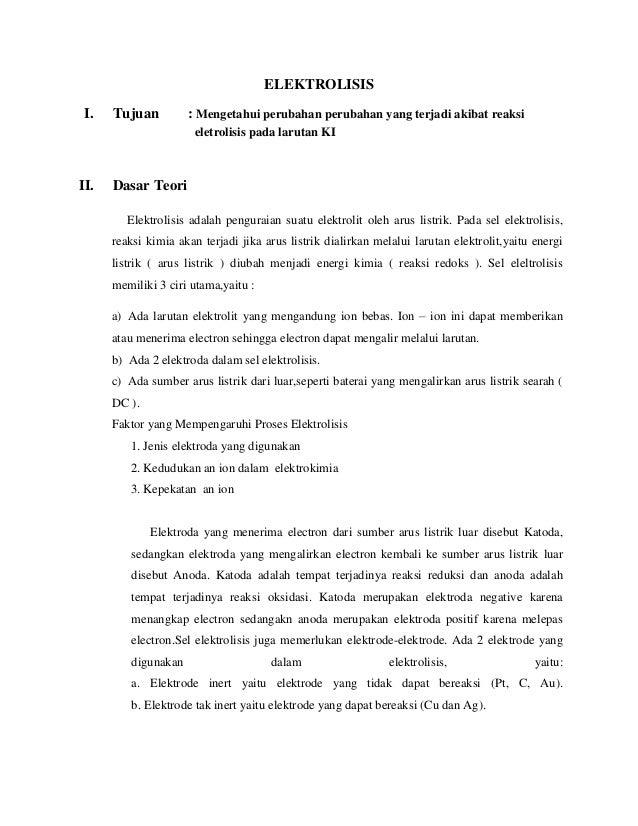Praktikum Kimia - Laporan Elektrolisis Slide 2