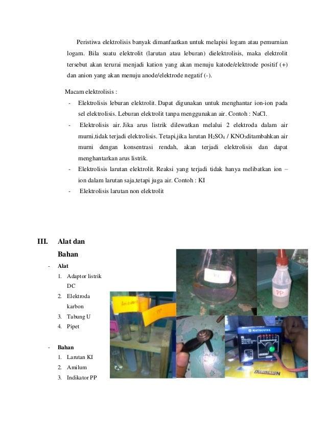 Praktikum Kimia - Laporan Elektrolisis Slide 3