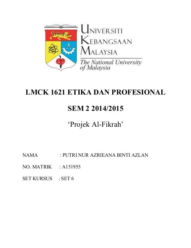 Laporan Etika Dan Profesional