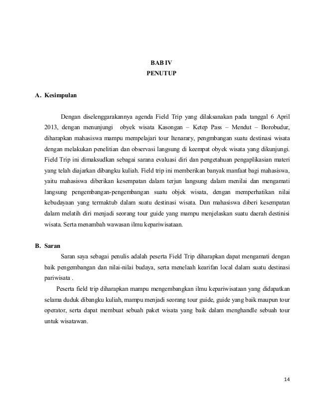 Laporan Hasil Observasi Candi Borobudur Seputar Laporan
