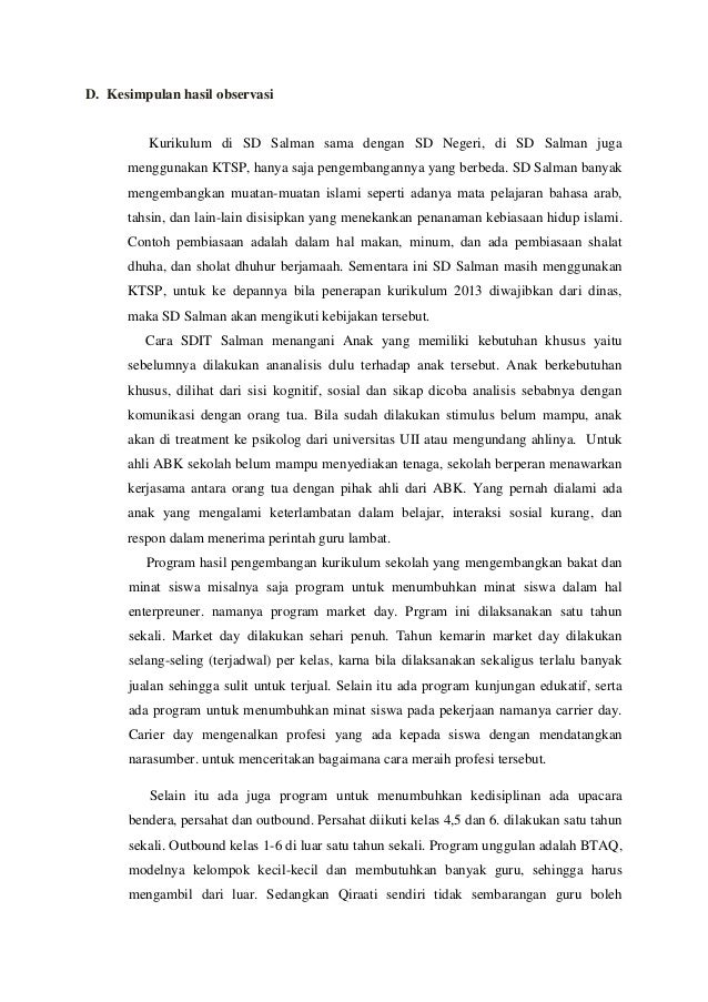 Contoh Teks Laporan Hasil Observasi Tentang Sekolah Dalam Bahasa Jawa Kumpulan Contoh Laporan