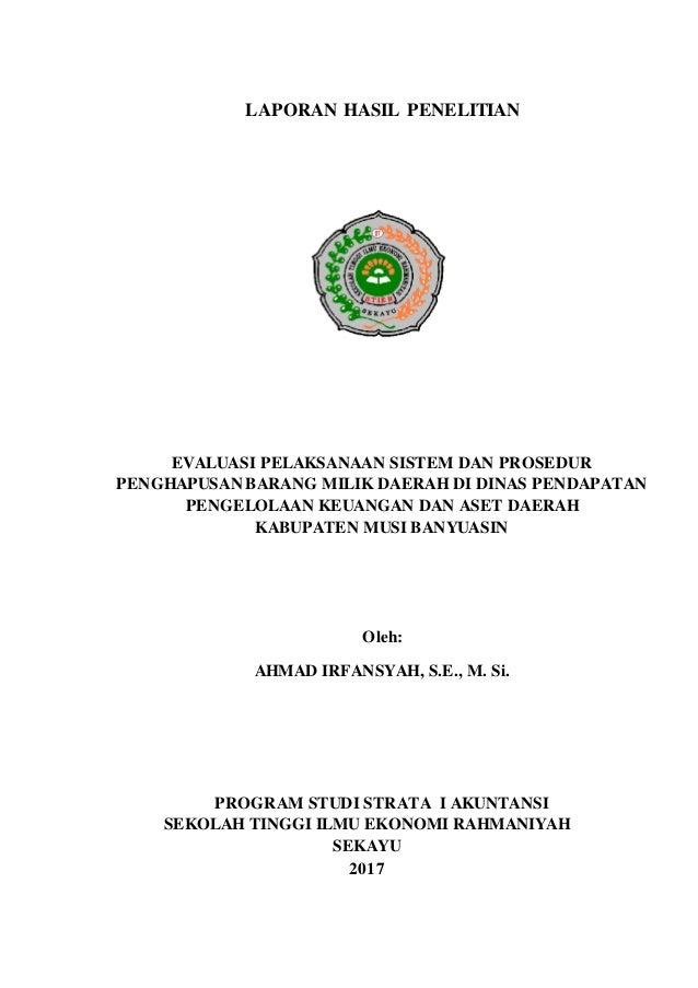 Laporan Hasil Penelitian Ahmad Irfansyah 2017