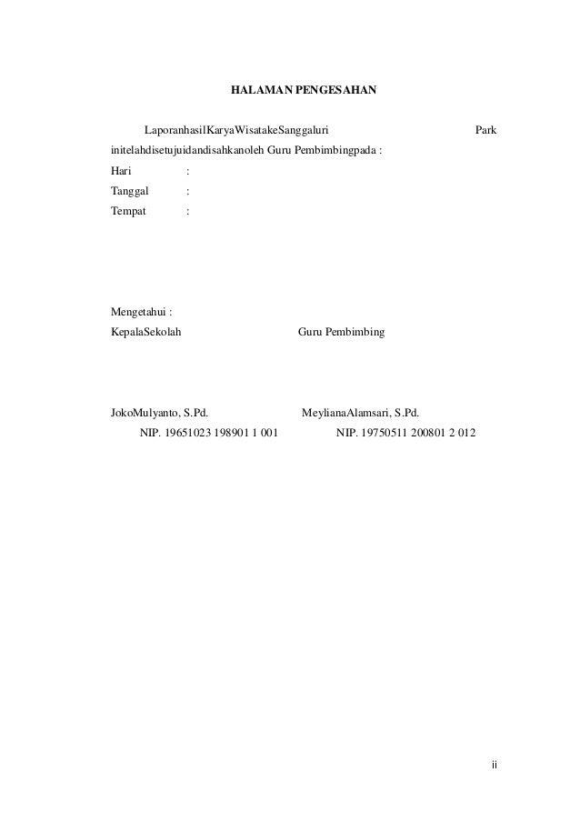 Laporan Hasil Perjalanan Karya Tulis Ratna