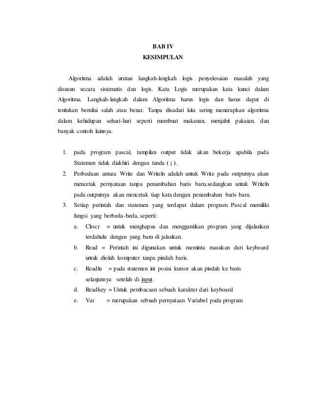 Laporan Hasil Praktikum Modul I Pengenalan Pascal