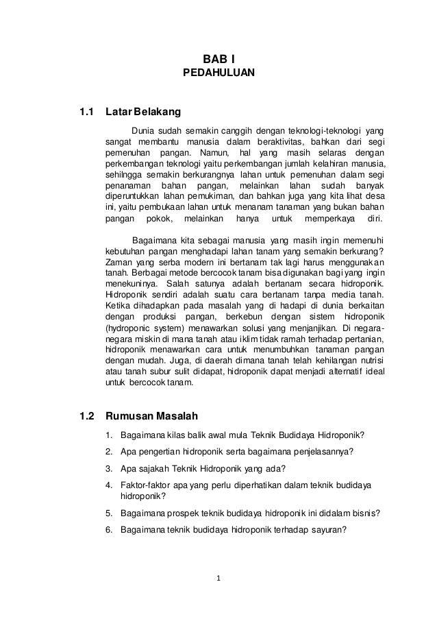 Laporan Hasil Praktikum Hidroponik Cabe & Bayam