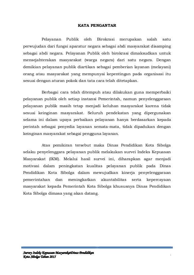 Laporan Ikm Disdik Sibolga 2015