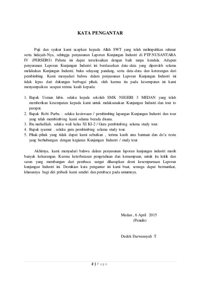 Laporan Kunjungan Industri Smkn 3 Medan
