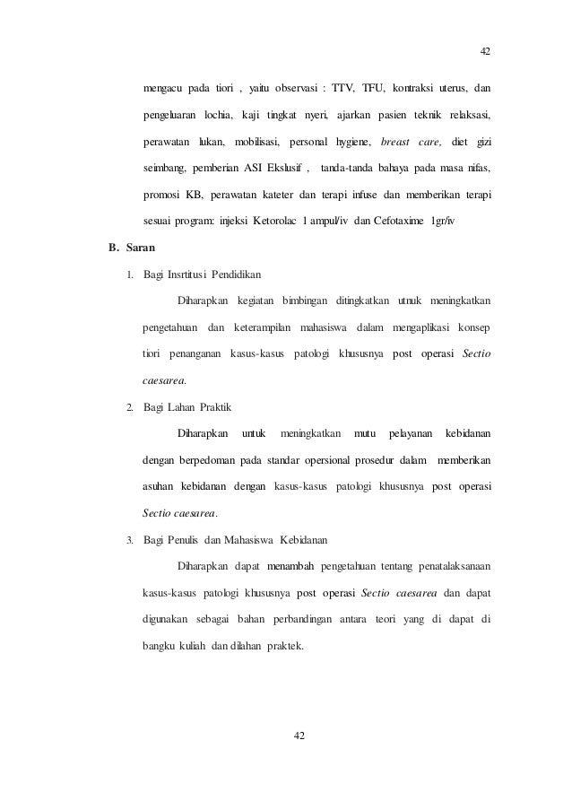 Ncp Kasus Post Operasi Sesar Dengan Pree