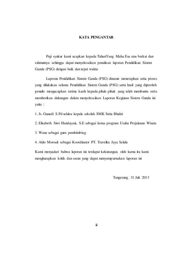 Laporan Prakerin Smk Pariwisata Baitul Hamdi Menes Banten Barnas