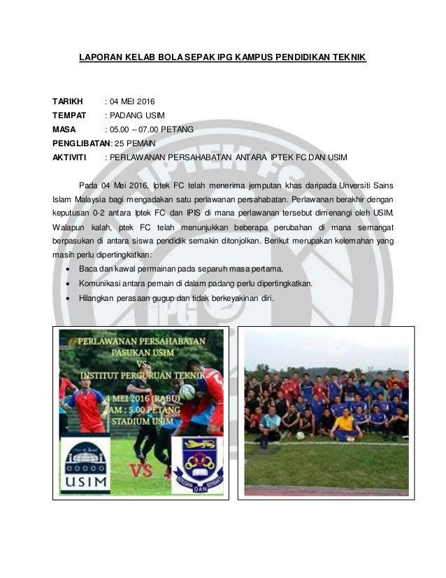 Laporan Aktiviti Kelab Bola Sepak Ipgkpt