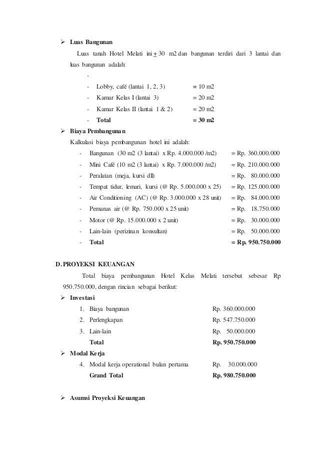 contoh laporan laba rugi hotel melati