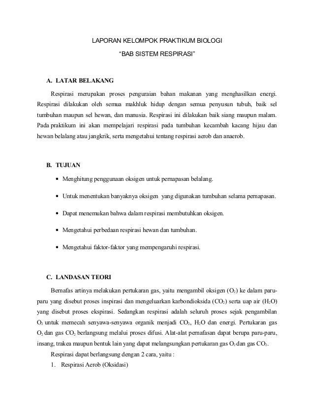 Laporan Praktikum Biologi Sistem Respirasi