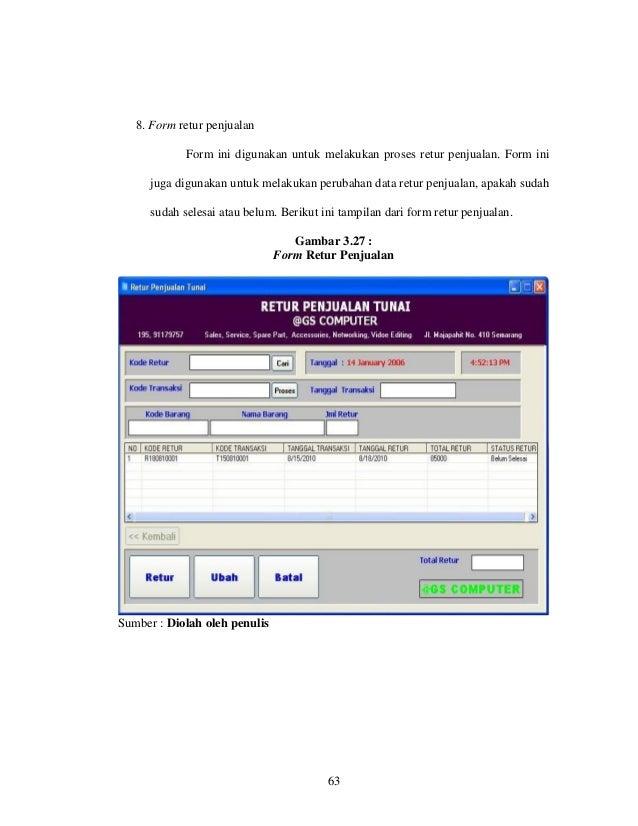 Laporan kerja paktek aplikasi penjualan pada cv muda mandiri mengg 79 8 form retur penjualan ccuart Images