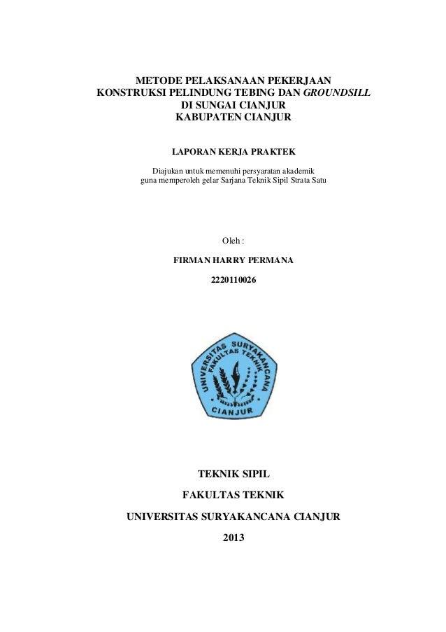 Contoh Laporan Kerja Praktek Teknik Sipil Jembatan Pdf Kumpulan Kerjaan