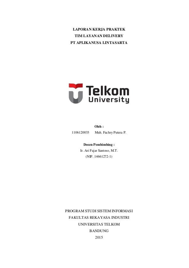 Laporan Kerja Praktek Muh Fachry Putera P 1106120033 Sistem In
