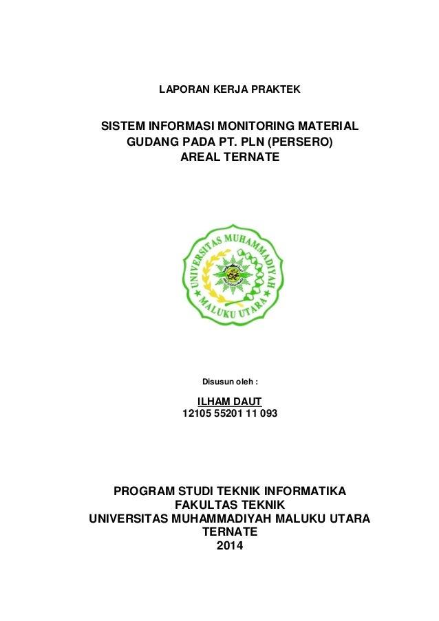 Laporan Kerja Praktek Sistem Informasi Monitoring Material Gudang