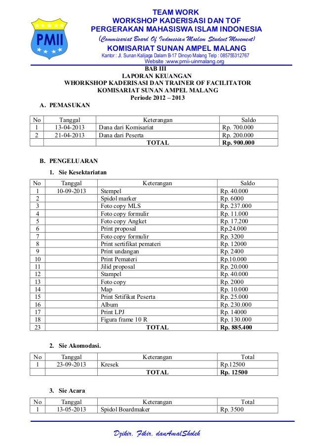 TEAM WORK WORKSHOP KADERISASI DAN TOF PERGERAKAN MAHASISWA ISLAM INDONESIA (Commisariat Board Of Indonesian Moslem Student...