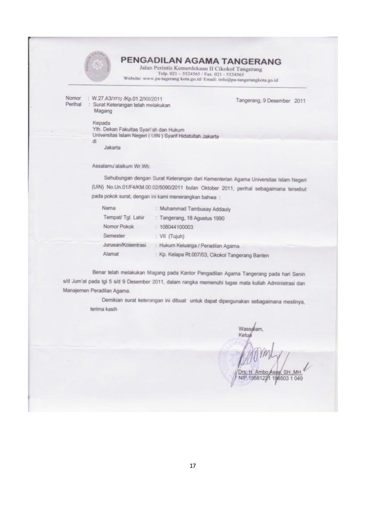 Contoh Surat Cerai Resmi Dari Pengadilan Agama Simak