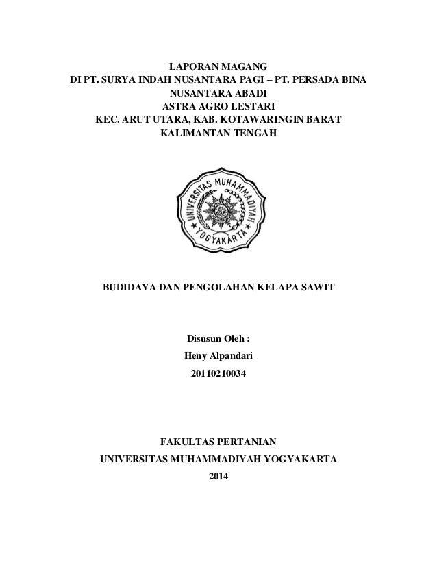Lapran Magang Di Pt Surya Indah Nusantara Pagi Pt Persada Bina Nus