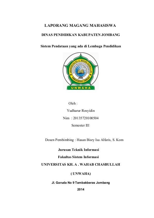Laporan Magang Mahasiswa Ti Universitas Wahab Chasbullah Jombang