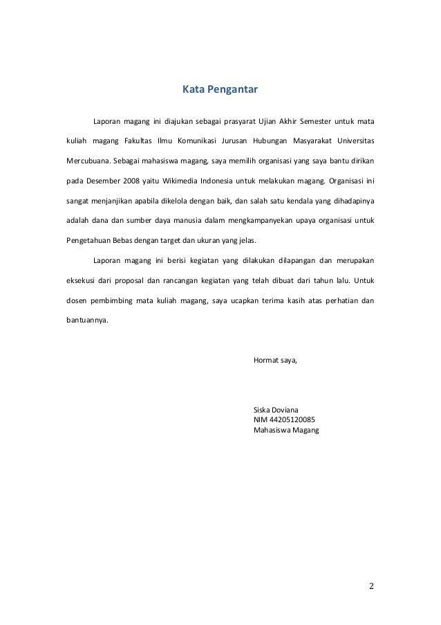 Contoh Kata Pengantar Proposal Pkl Goresan