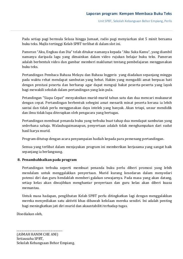 Contoh Laporan Pt3 Bahasa Melayu