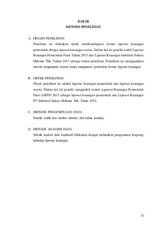 Laporan Mini Riset Tentang Perbedaan Format Lkpp 2013 Dengan Lapkeu P