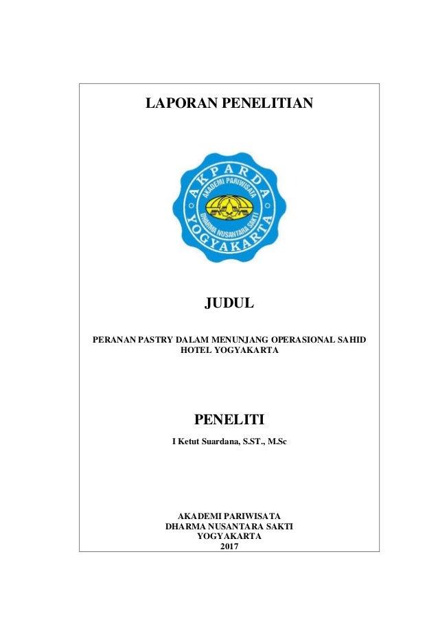 Peranan Pastry Dalam Menunjang Operasional Sahid Hotel Yogyakarta
