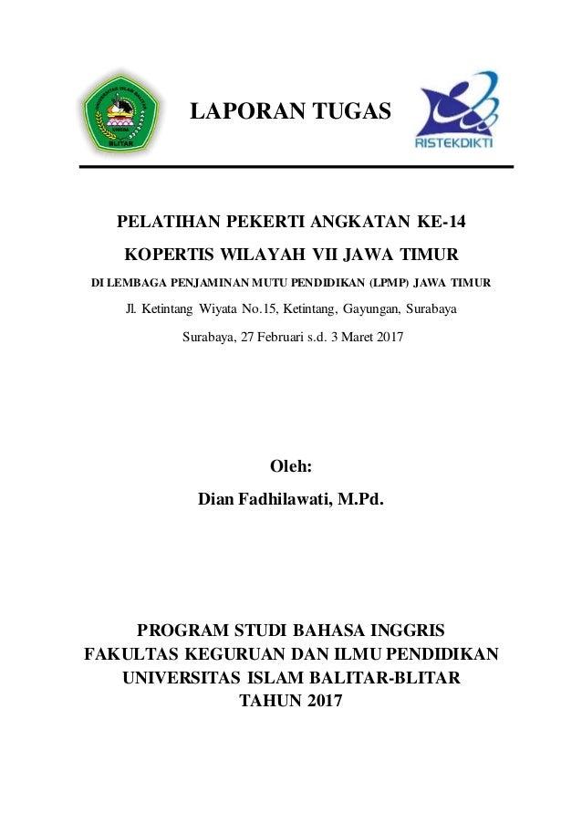 Laporan pekerti Dian Fadhilawati- Universitas Islam Balitar