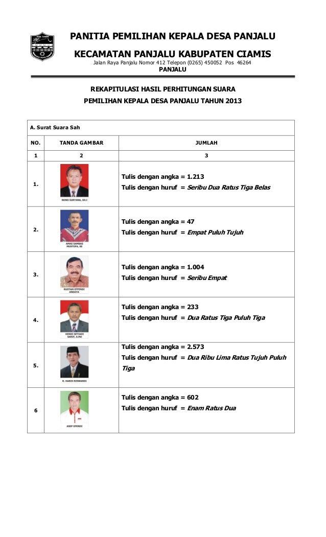 Laporan Pelaksanaan Pemilihan Kepala Desa Panjalu Kab