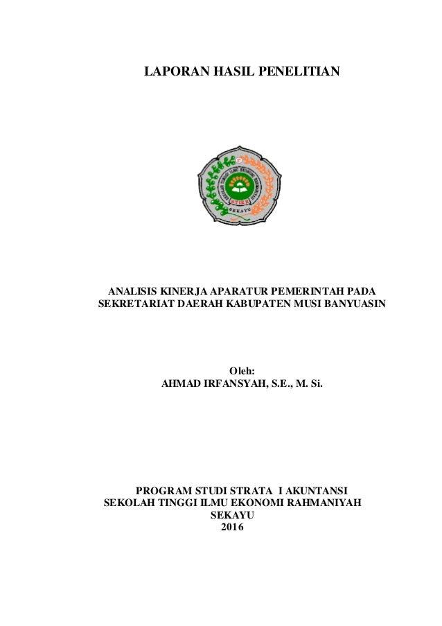 Laporan Penelitian Ahmad Irfansyah