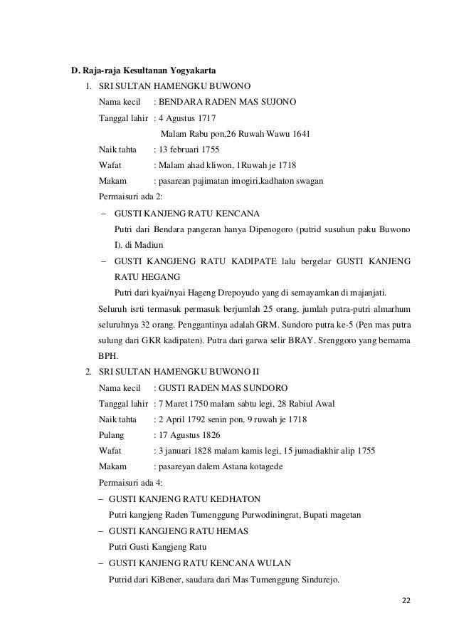 Laporan Penelitian Keraton Cirebon Yogyakarta