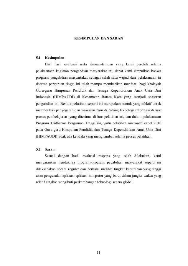 Contoh Kesimpulan Dan Saran Dalam Laporan Penelitian Kumpulan Contoh Laporan