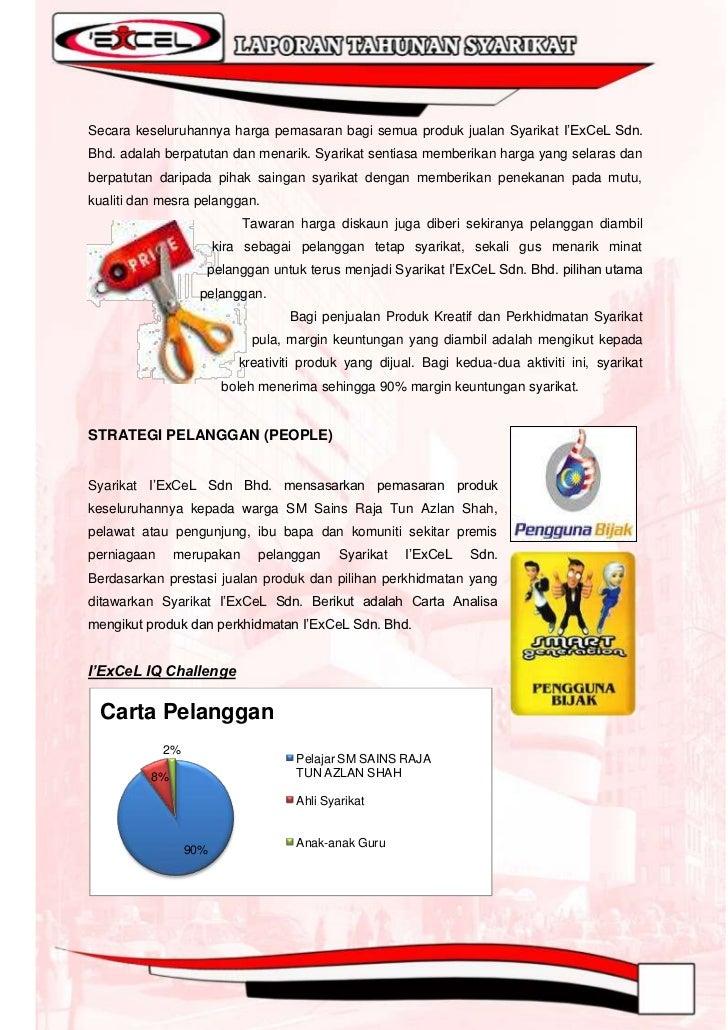 I`ExCeL Sports  Carta Pelanggan                 15%           Pelajar SM Sains                               Raja Tun Azla...