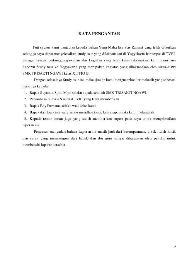 Laporan Perjalanan Study Tour Smk Trisakti Ngawi