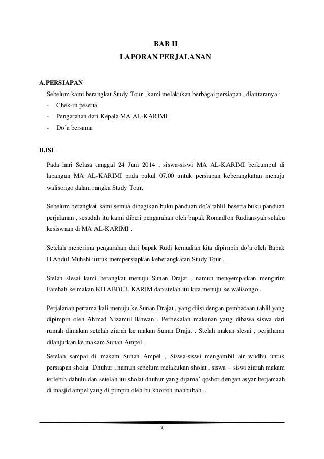 Contoh Laporan Perjalanan Study Tour Jakarta Bandung Temukan Contoh