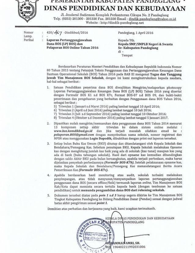 Laporan Pertanggungjawaban Bos Dan Lpj Bos