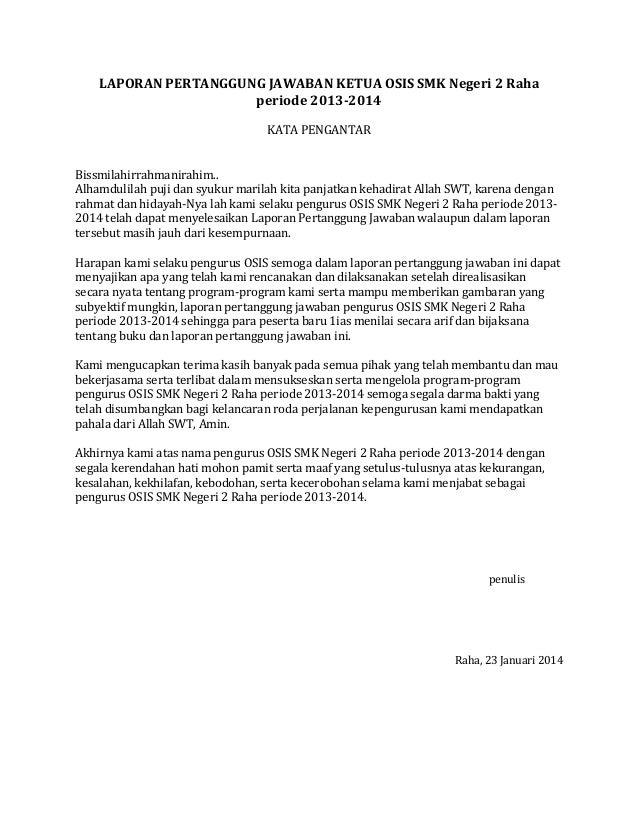 laporan pertanggung jawaban ketua osis smk negeri 2 raha periode 2013