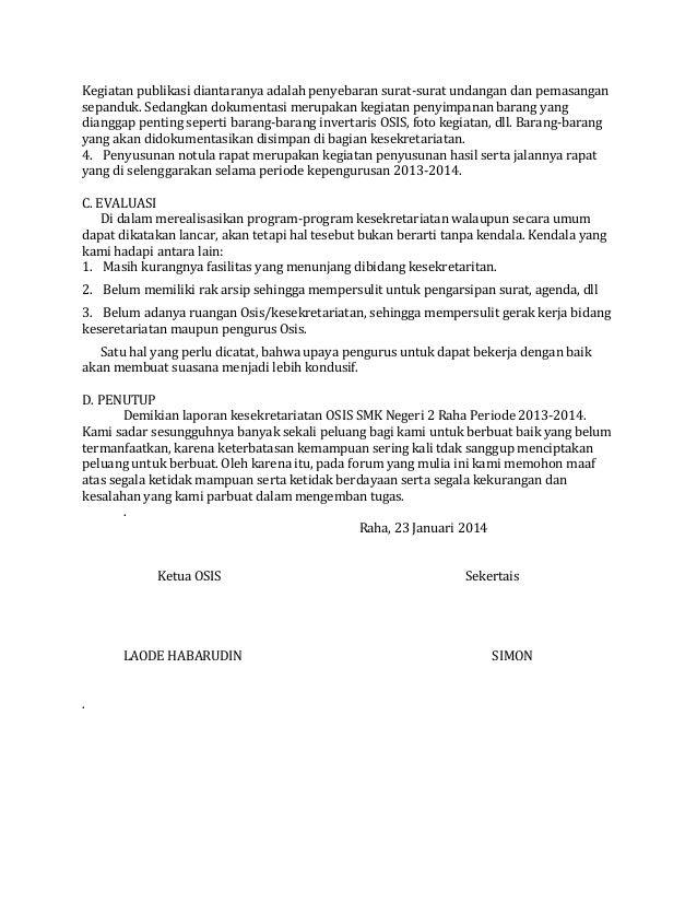 Laporan Pertanggung Jawaban Ketua Osis Smk Negeri 2 Raha