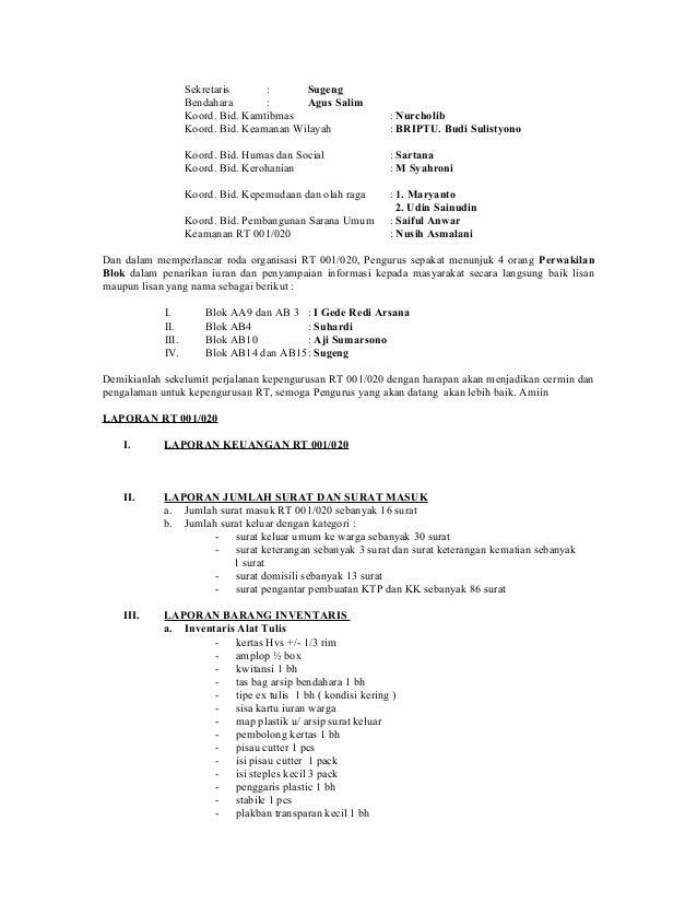 Laporan Pertanggungjawaban Rt